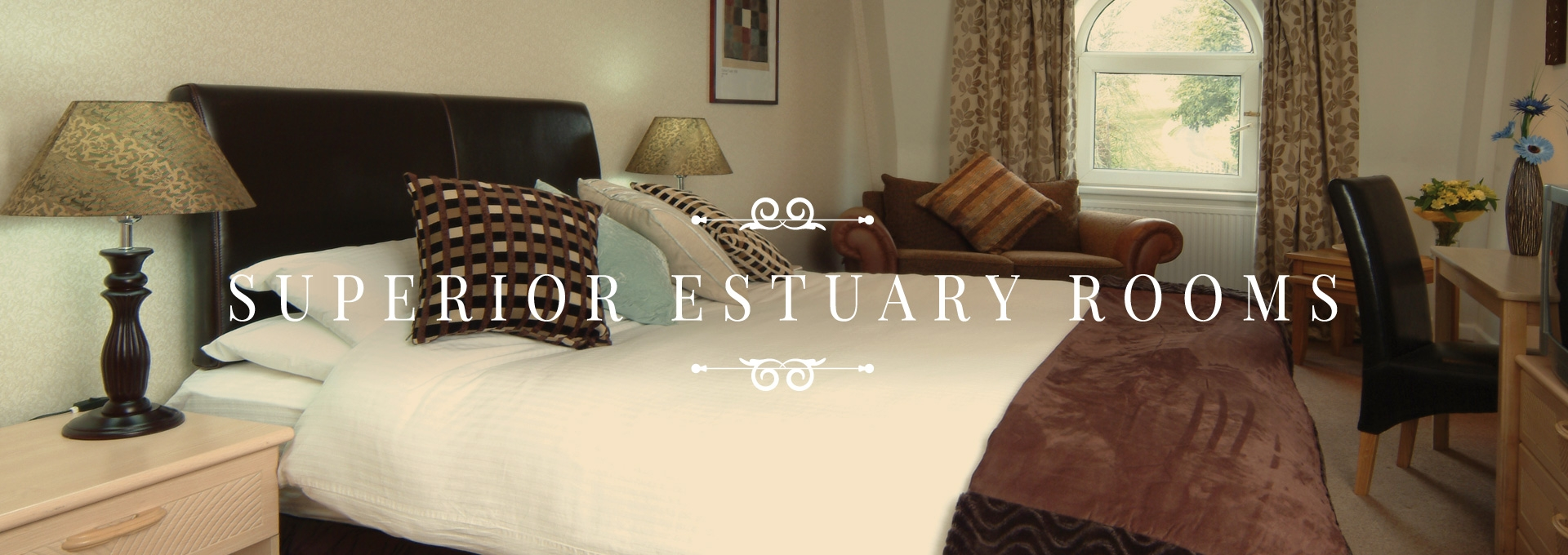 Superior Estuary Rooms overlooking Taw Estaury - Luxury Holidays in Bideford.