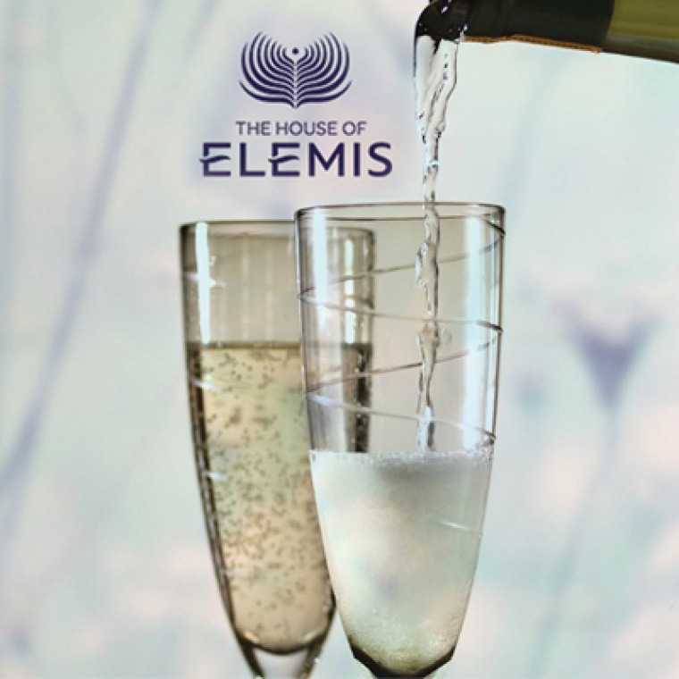 The House of Elemis, Glasses of Champagne