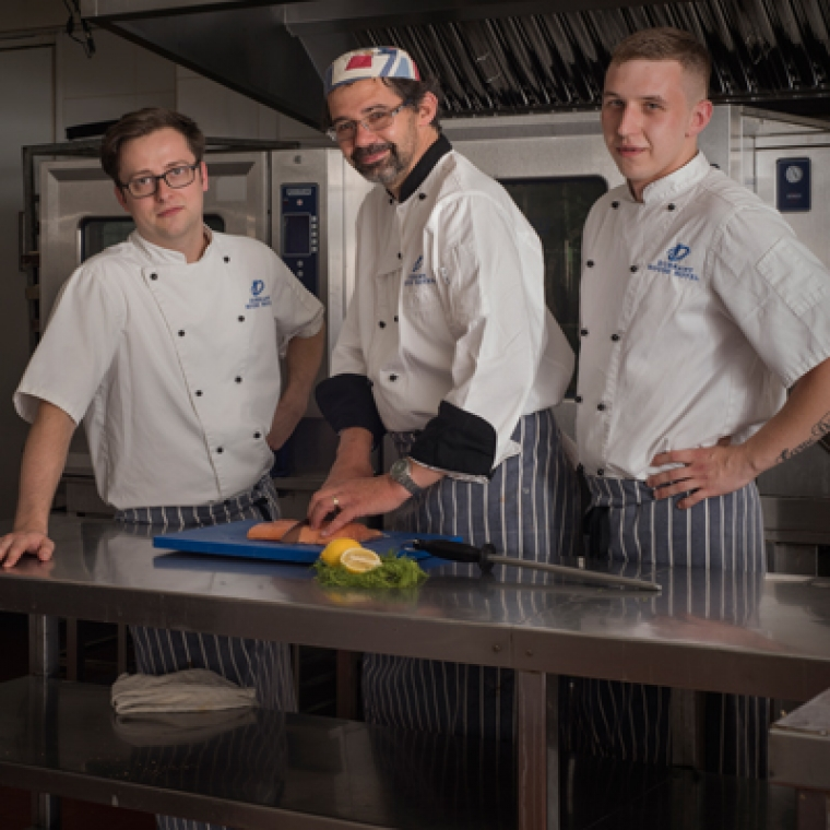 three Professional Chefs at The Durrant House Hotel - Located in Bideford North Devon,.