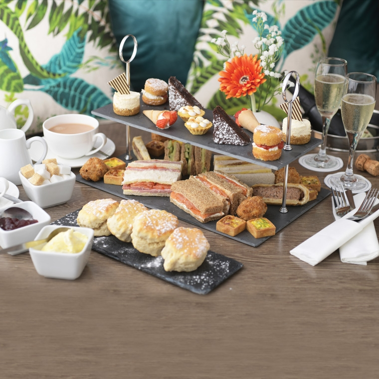 afternoon tea selection at the durrant house hotel, bideford, devon